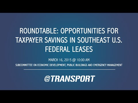 Atlanta Roundtable: Opportunities for Taxpayer Savings in Southeast U.S. Federal Leases