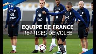 Equipe de France, entraînement devant le but : volées et parades, reportage I FFF 2017