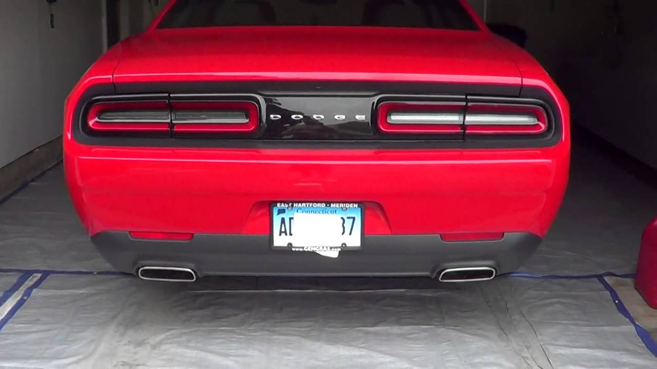 dodge challenger with flow master super 10 s running installed at pops exhaust in manchester ct