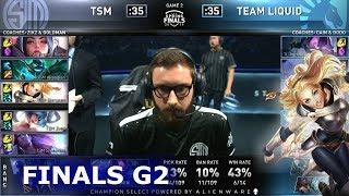 TL vs TSM - Game 2 | Finals S9 LCS Spring 2019 | Team Liquid vs TSM G2