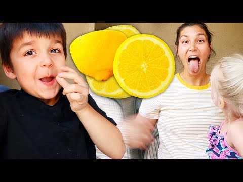 EATING A LEMON WITH NO EXPRESSION! 🍋😆