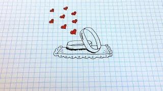 Простые рисунки #132 Как нарисовать обручальные кольца =)