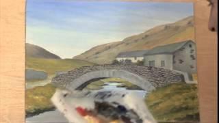 Painting Buildings in Acrylics - Old Lakeland Bridge