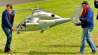 HUGE RC X-3 EUROCOPTER EXPERIMENTAL SCALE MODEL TURBINE HELICOPTER FLIGHT DEMONSTRATION