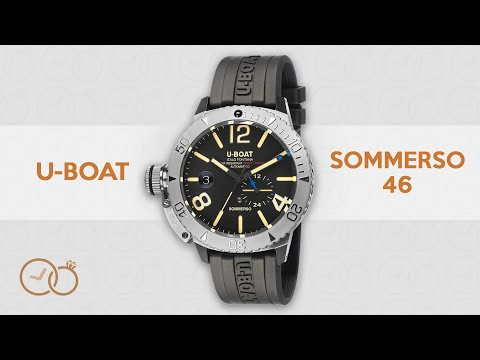 U-Boat Automatic Sommerso Diver Watch Black Silicone Strap 9007/A