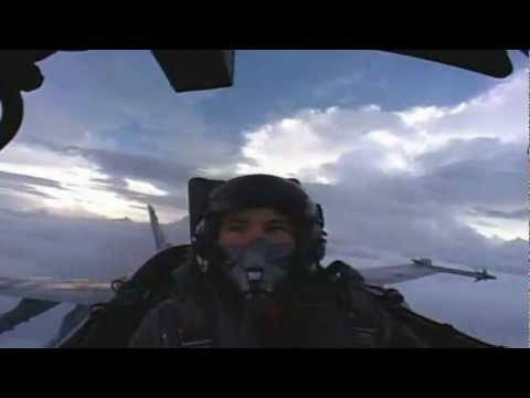Fighter Pilot Plays in the Clouds