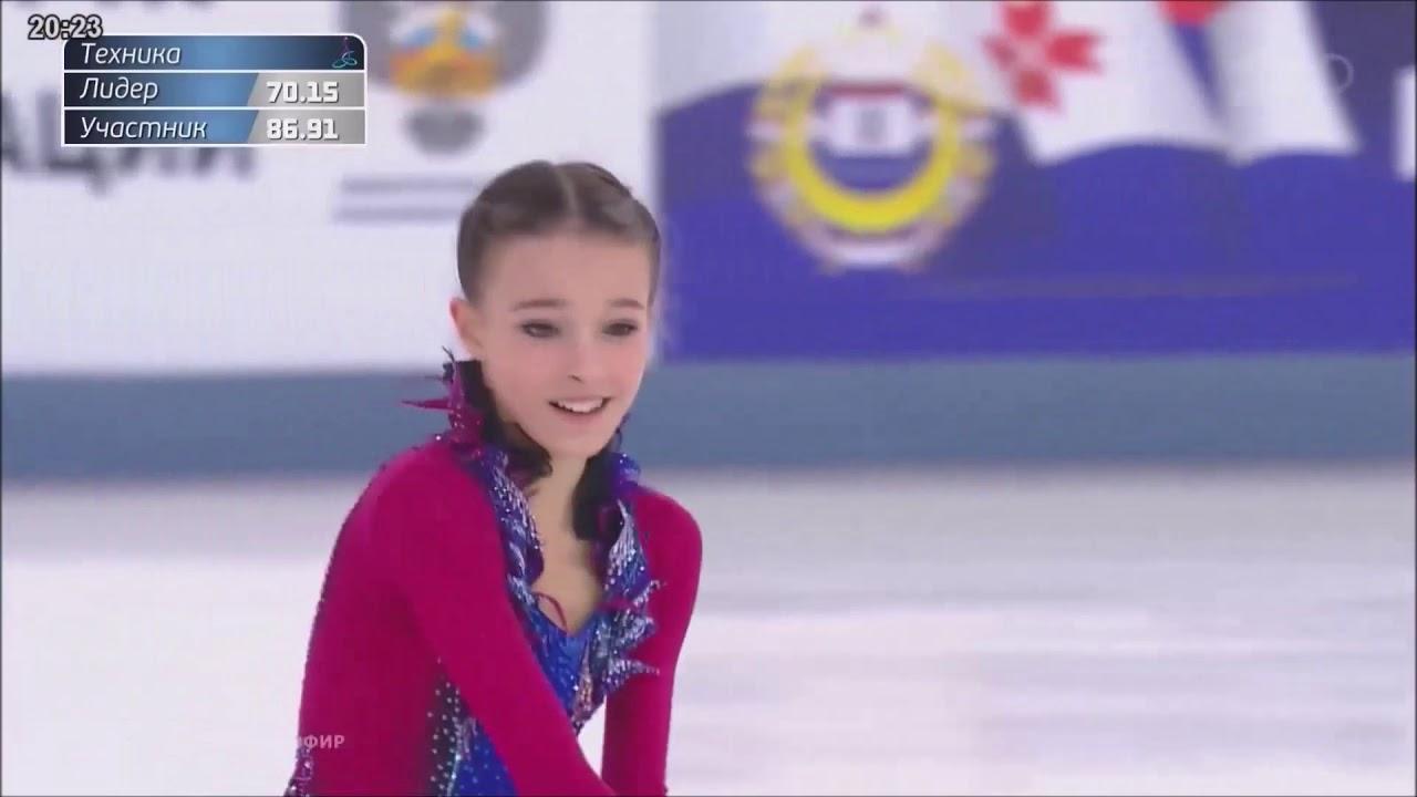 【フィギュアスケート】アンナ・シェルバコワ ロシア選手権 2019 FS 155.69【Anna
