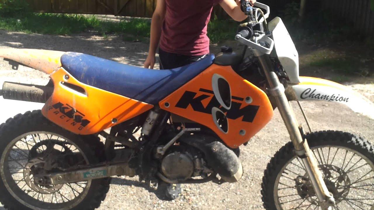 KTM 300 exc 1994 cold start - YouTube