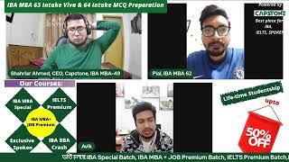 IBA MBA 63 Intake Viva & 64 Intake Written Preparation