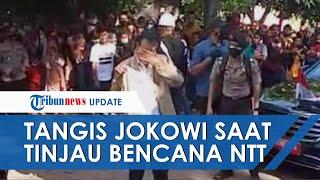 Video Detik-detik Jokowi Menangis Lihat Lokasi Bencana Alam di Adonara NTT, Begini Kesaksian Warga