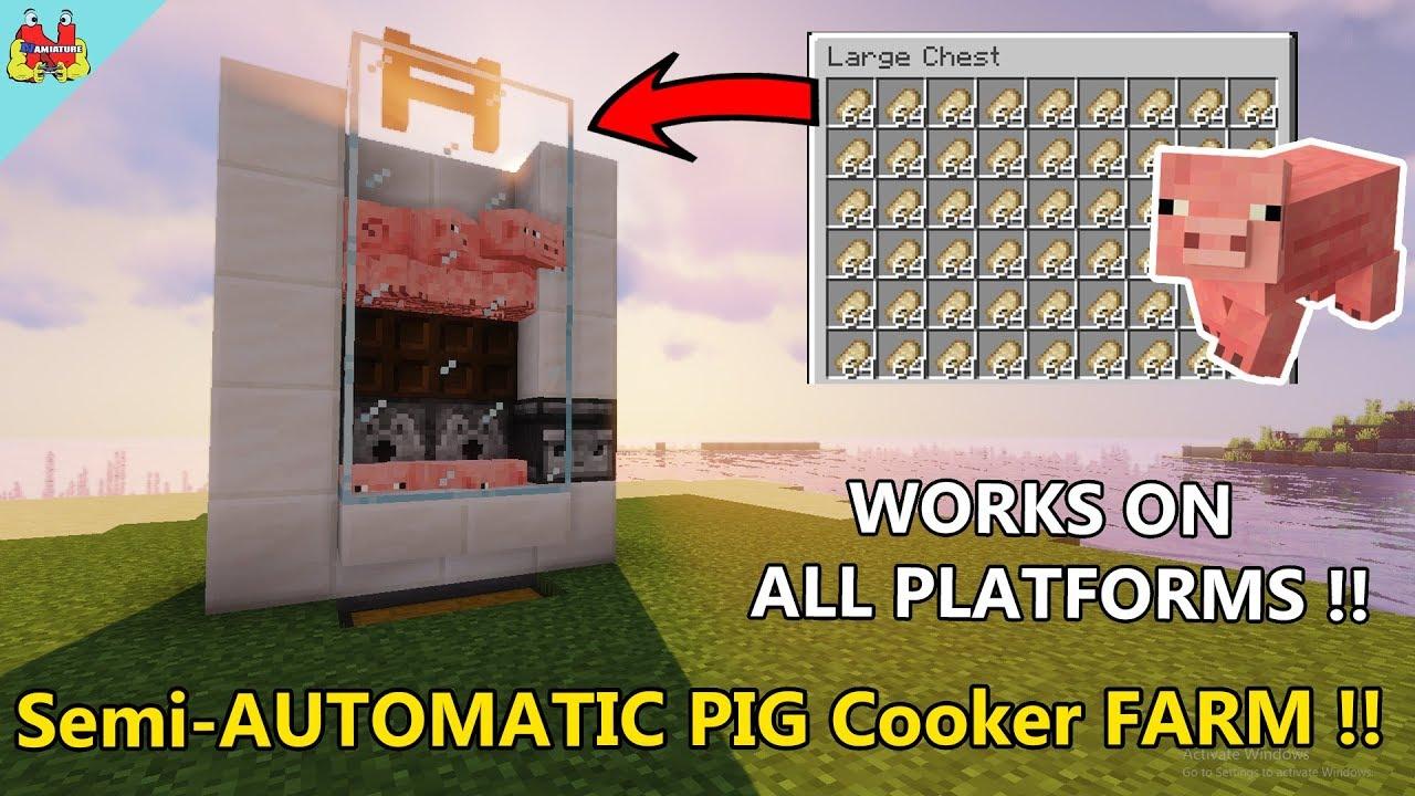 EASY Food Farm in Minecraft - Automatic Pig Farm Minecraft ...