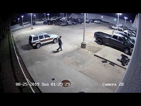 Night Hawk Monitoring - Car Dealership Theft - Apprehended.