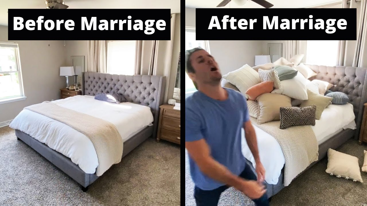 Making The Bed Before Marriage VS. After Marriage. #shorts