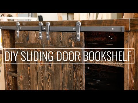DIY Sliding Door Bookshelf