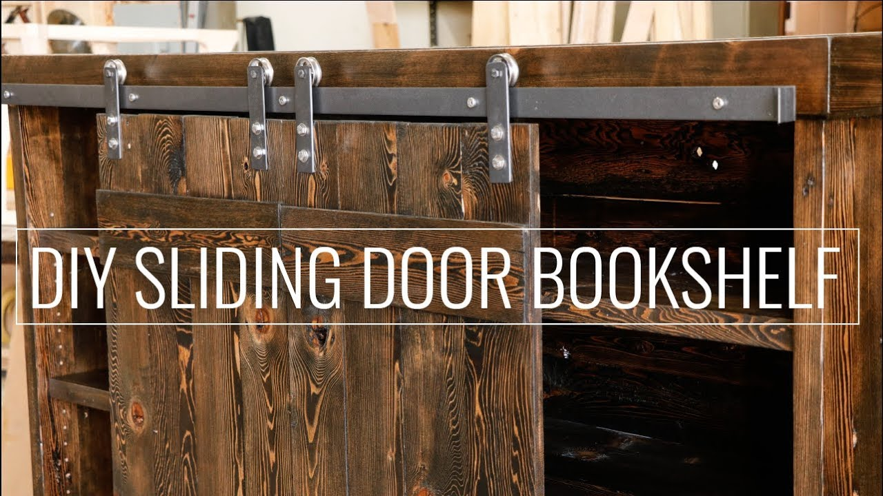 Create A DIY Sliding Door Bookshelf & Create A DIY Sliding Door Bookshelf - YouTube