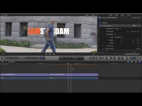 FCPX - Text behind object tutorial