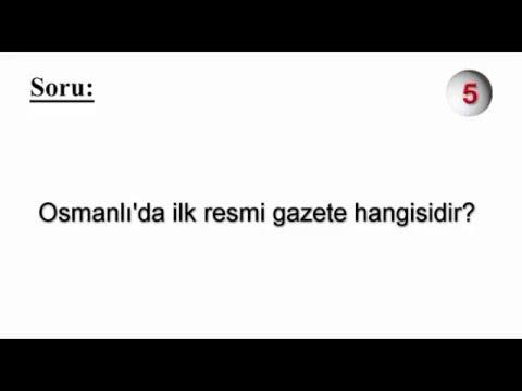 Osmanlı'da ilk resmi gazete hangisidir?