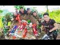 LTT Game Nerf War : Winter Warriors SEAL X Nerf Guns Break Destroy Criminal Group Boss
