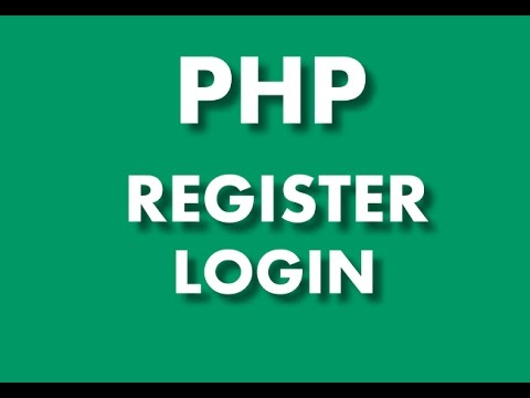 2.PHP - Register Login With Protection From MYSQL Injection - 2nd Part