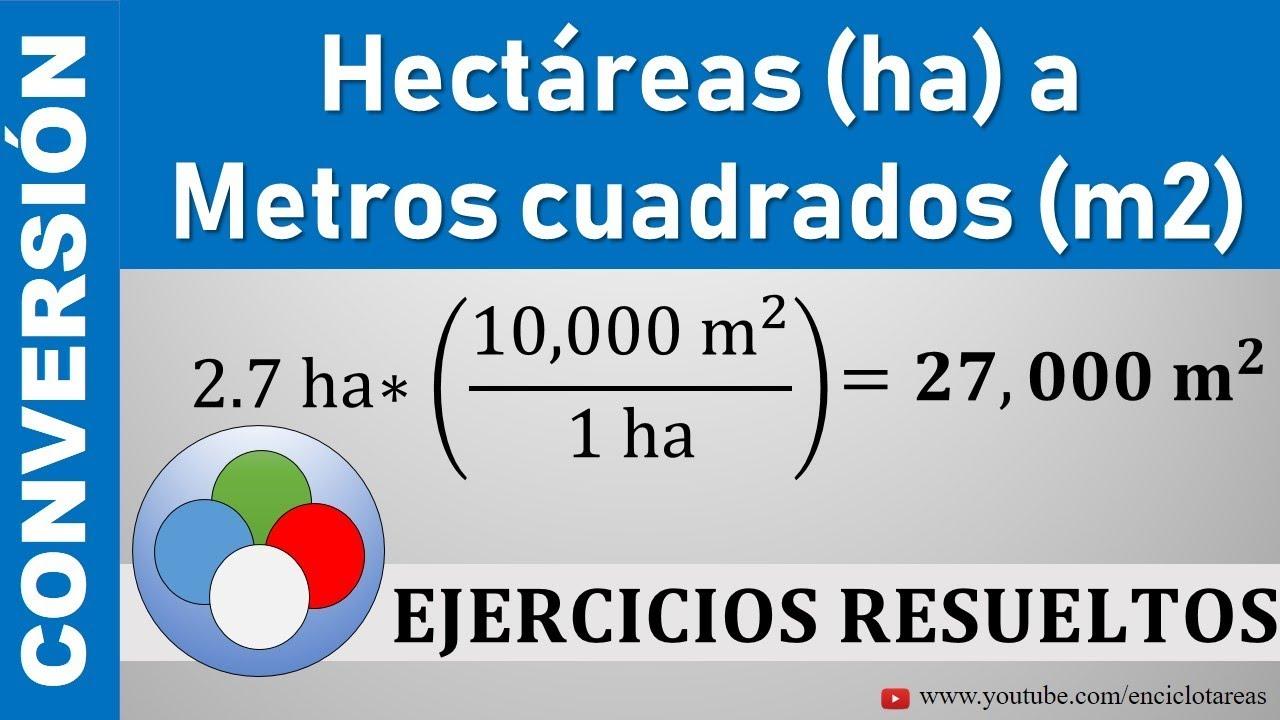 Conversión De Hectáreas Ha A Metros Cuadrados M² Ha A M²