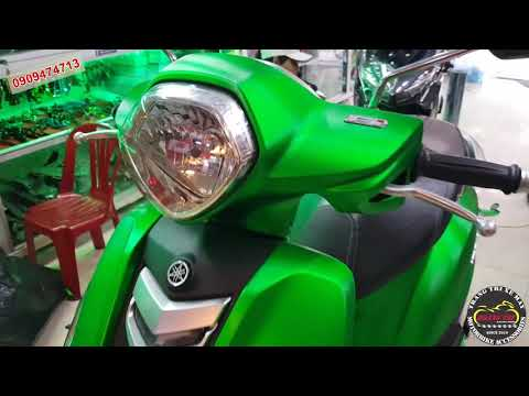 Dán Decal nhôm xước đổi màu xe Yamaha Grande