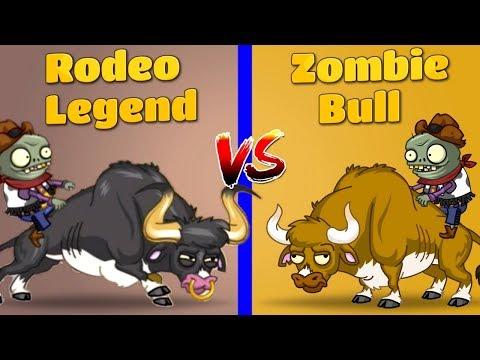 Plants vs Zombies 2 Rodeo Legend Zombie vs Zombie Bull Every Plant Power Up vs Zombies PVZ 2 Primal