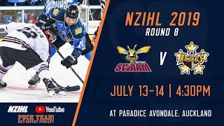 NZIHL 2019 | Round 8: Botany Swarm v West Auckland Admirals  - July 14