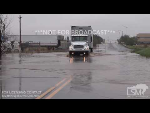 Denver Co.. Truck Hydroplaning, Vehicles Driving In Flood Waters..