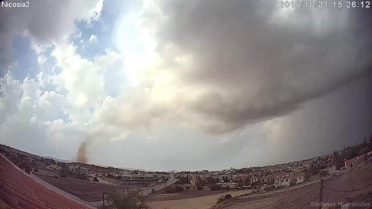 Nicosia, Cyprus Landspout  21.10.2018