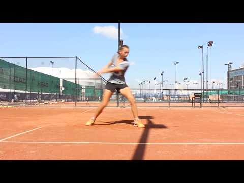 Tennis Clay Court Training session feeding, hitting, fitness