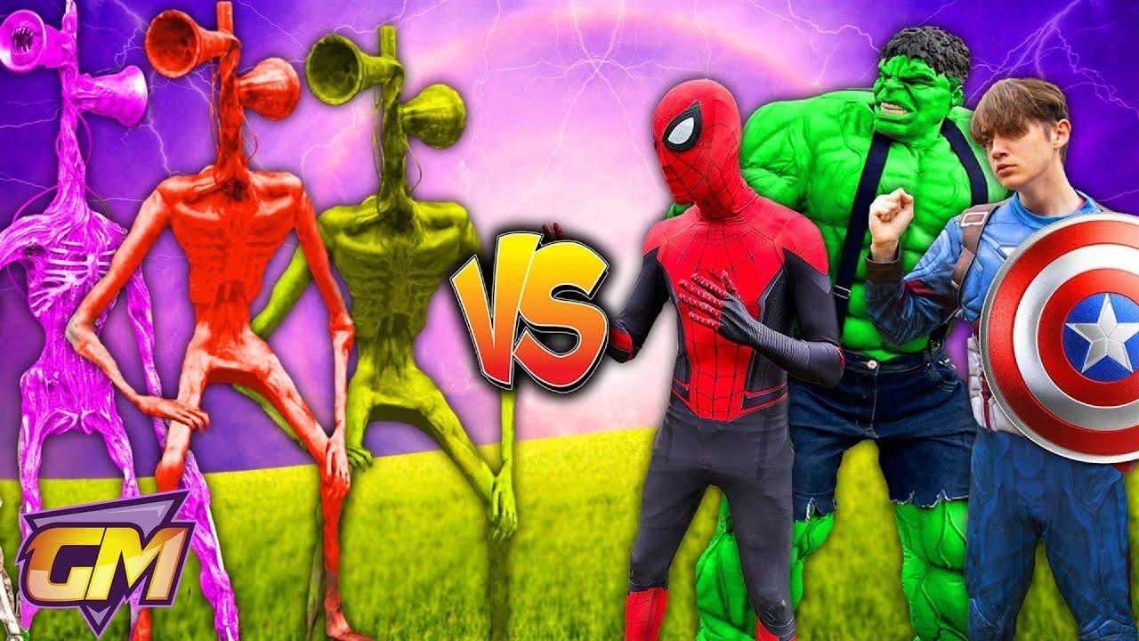 Avengers VS Team Siren Head!