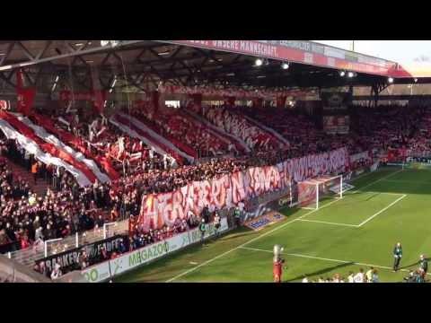 Union Berlin vs. Dynamo Dresden 12.04.13 Alte Försterei - Pyro Choreo + Hymne