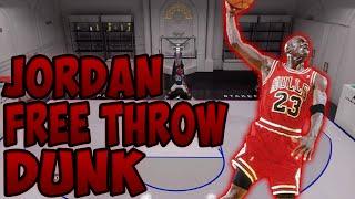 how to do the michael jordan free throw line dunk   nba 2k16