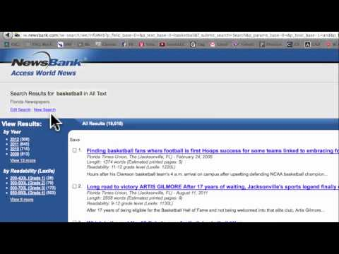 Accessing world news by using the Newsbank Database
