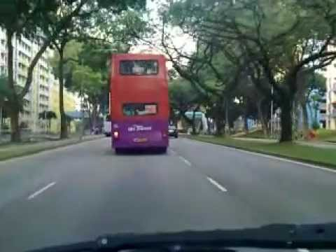 Driving in Singapore - Jurong West St. 64 to NTU
