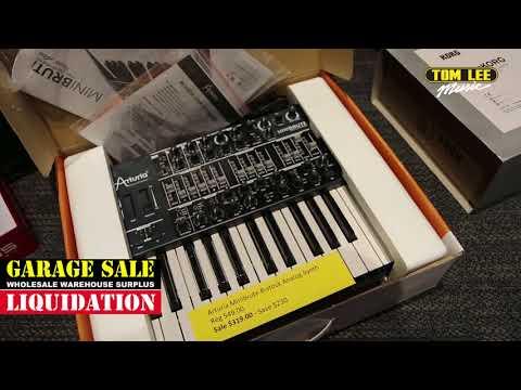 Tom Lee Music Garage Sale 2018 – Keyboards, Recording, DJ and Live Sound