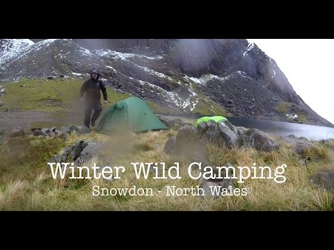 Winter wild camping on Snowdon in horrendous conditions