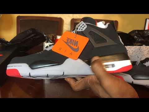 Air Jordan Bred 4 2019 Real VS Fake. Both Shoes On Hand. Easy Cop!