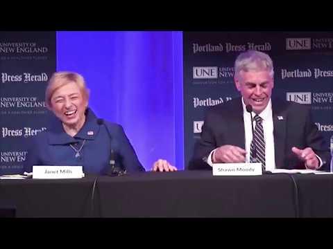 Maine Gubernatorial Debate - Moody and Mills on Climate Change