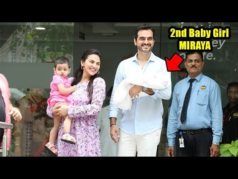 Watch Esha Deol's Second Baby Girl Miraya's F!RST Visuals Outside Hospital Wid Hubby Bharat Takhtani