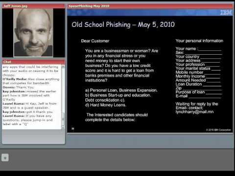 O'Reilly Webcast: Spear Phishing: A Smarter and More Dangerous Social Web