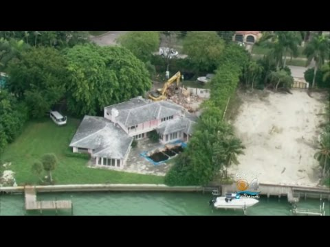 Drug Lord Pablo Escobar's Miami Beach Mansion Demolished