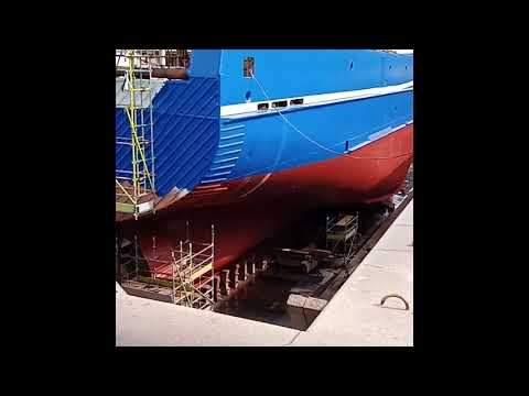 How a fishing vessel undergo repairs at V&A Waterfront Cape town.