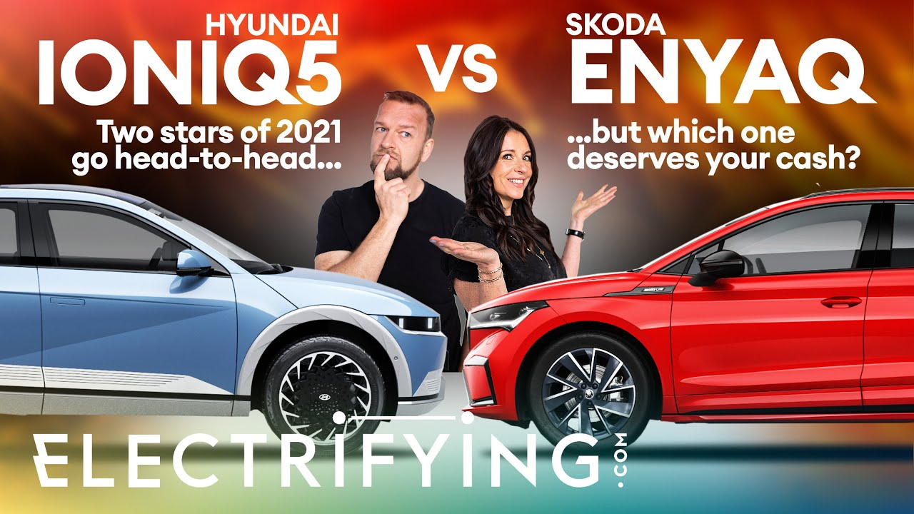 Hyundai Ioniq 5 vs Skoda Enyaq – Two electric stars of 2021 go HEAD-TO-HEAD / Electrifying