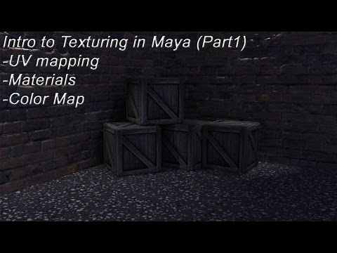 Intro to Texturing in Maya (Part 1) - UV Mapping, Materials, Color Map