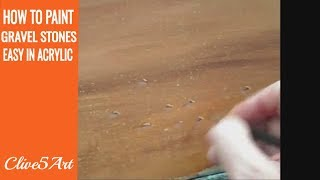 How To Paint Grass Dirt And Gravel ,Acrylic painting for beginners, #clive5art