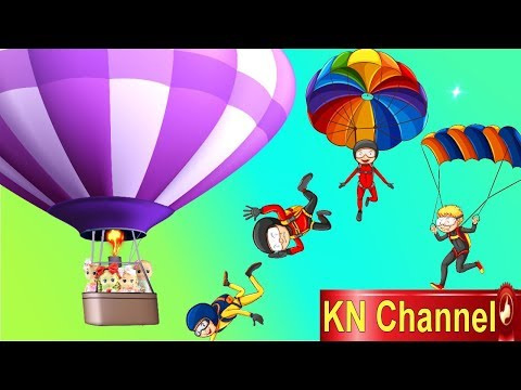 Đồ chơi trẻ em BÚP BÊ KN Channel XÉ ÁO PHAO TRÊN MÁY BAY tập 2 | NHẢY DÙ BẰNG KHINH KHÍ CẦU