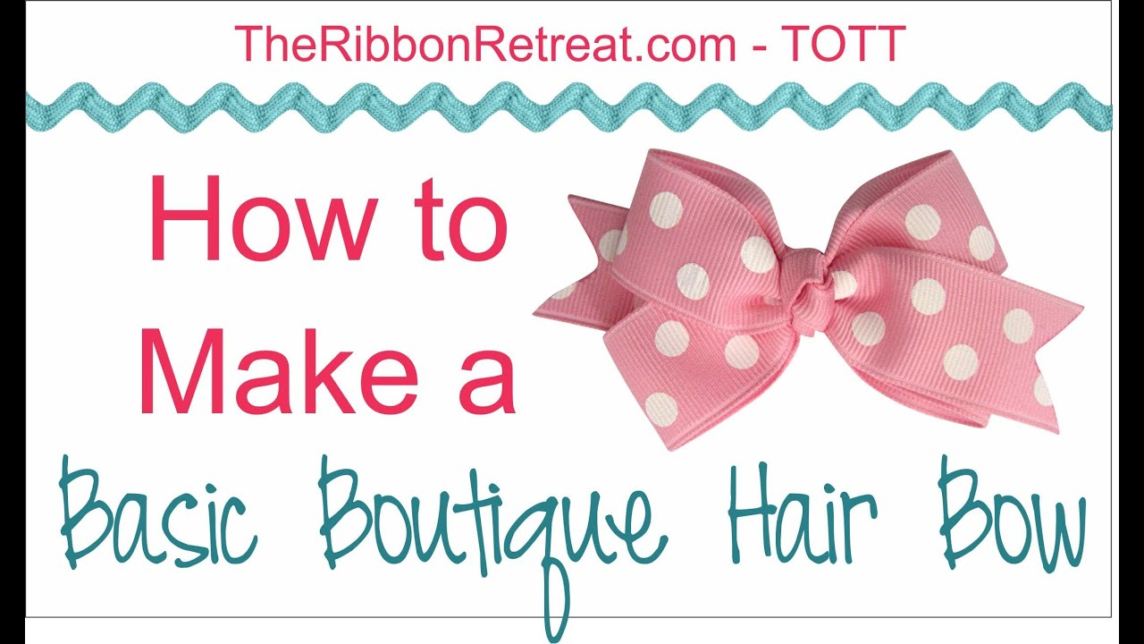 boutique style hair bow tutorial how to make a basic boutique hair bow tott 6832