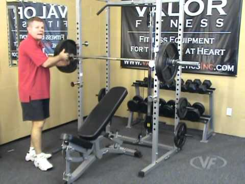 Valor Fitness Bd 7 Power Rack W Lat Pull Youtube