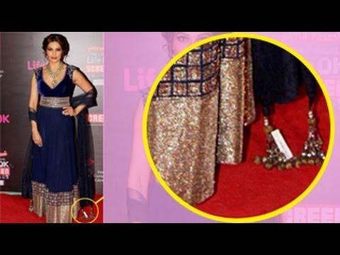 Madhuri Dixit Cleavage: Madhuri Dixit wardrobe malfunction at Dedh Ishqiya
